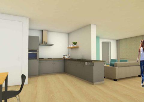 UPinterieur Sint- Annaland Huiskamer/keuken